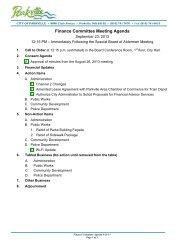 Finance Committee Meeting Agenda - City of Parkville