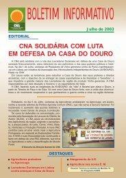 Boletim Informativo Julho de 2003 - CNA