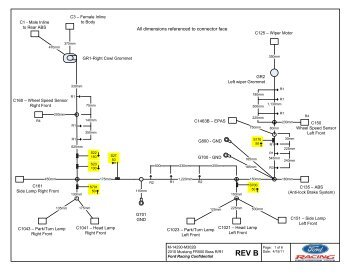 Wiring Diagram Forward Lamp - Ford Racing Parts