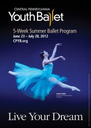 Live Your Dream - Central Pennsylvania Youth Ballet