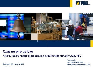 Prezentacja PDF - PBG SA