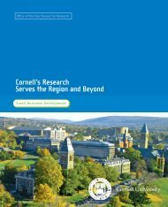 Cornell's Research Serves the Region and Beyond: Small Business ...