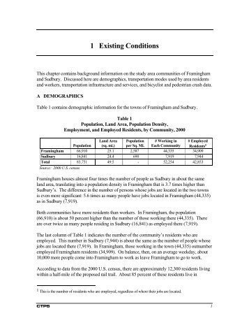 Chapter 1 Existing Conditions (PDF) - Bruce Freeman Rail Trail