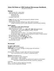 Zeiss LSM510 Meta Confocal Microscope User Guide