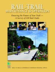 Trail Maintenance and Operation - Rails-to-Trails Conservancy