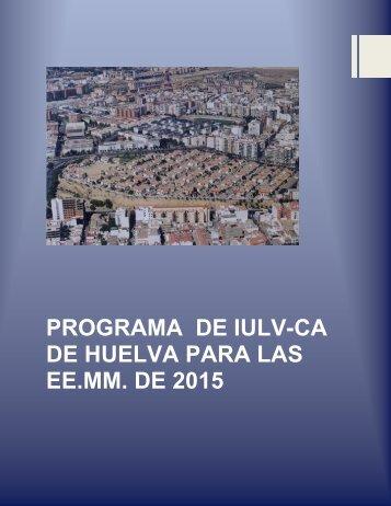 PROGRAMA MUNICIPAL HUELVA2015
