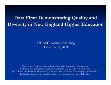 Data First - New England Association of Schools and Colleges
