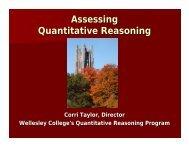 Assessing Quantitative Reasoning