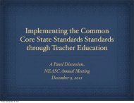 Implementing the Common Core State Standards Standards through ...