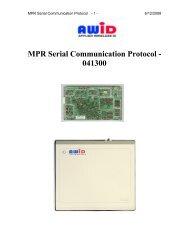 MPR Serial Communication Protocol