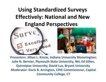 Standardized Surveys - New England Association of Schools and ...