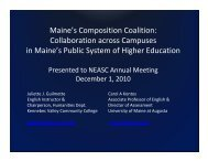 Maine's Composition Coalition - New England Association of ...