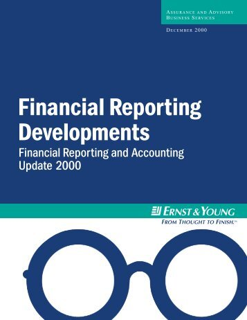 Financial Reporting Developments - The Computer Science ...
