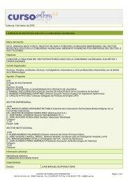 Valencia, 4 de marzo de 2009 I JORNADA DE BIOTECNOLOGÍA EN ...