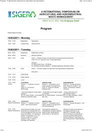 Programa - II International Symposium on Agricultural and ...