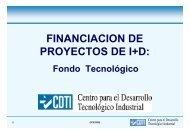 FINANCIACION DE PROYECTOS DE I+D: