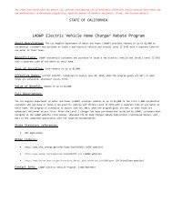 LADWP Electric Vehicle Home Charger Rebate Program