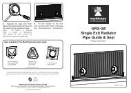 Single Exit Radiator Pipe Guide and Seal: Fitting Instructions