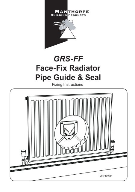 Manthorpe GRS-FF Radiator Pipe Guide and Seals