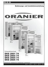 Bedienungsanleitung - vom Hersteller bei Sparen-ab-Werk.de
