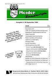 Ausgabe II / 99 September 1999 - Bürgerverein Hilden-Meide ev