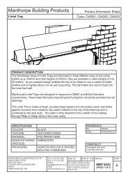 Lintel Tray Product Information Sheet MBP8243b.indd