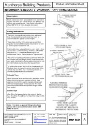 Stepped Blockwork Tray: Fitting Instructions