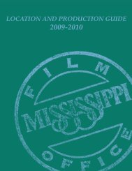 Mississippi Location and Production Guide - Delta Blues Foundation