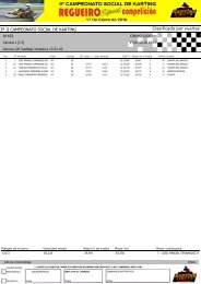 Clasificado por vueltas 3ª II CAMPEONATO SOCIAL DE KARTING
