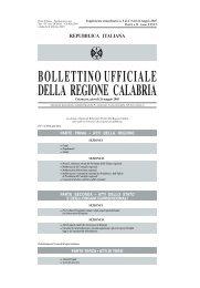 BOLLETTINOUFFICIALE DELLA REGIONE CALABRIA - Consiglio ...