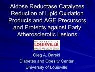 Aldose Reductase Catalyzes Reduction of Lipid ... - SC EPSCoR/IDeA