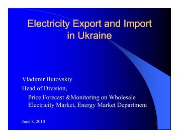 Electricity export and import in Ukraine - Narucpartnerships.org