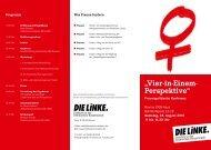 """""""Vier-in-Einem- Perspektive"""" - Fraktion DIE LINKE in Bremen"""