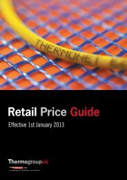 Retail Price Guide - Thermogroup UK