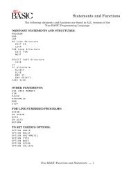 Statements and Functions - True BASIC