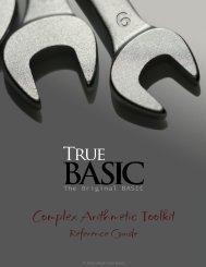 Download the PDF documentation - True BASIC