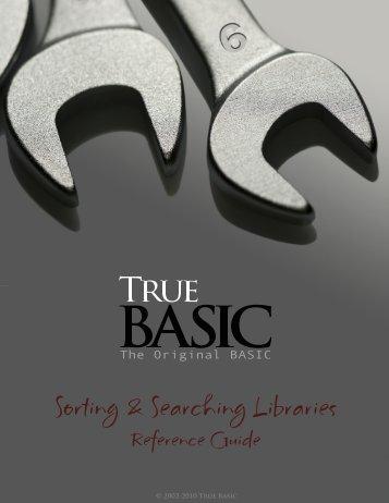 Download the documentation - True BASIC