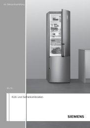 Kühl- und Gefrierkombination - Moebelplus GmbH