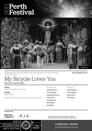 My Bicycle Loves You - 2011 - Perth International Arts Festival