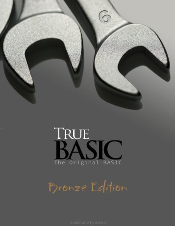 Bronze Edition Guide - True BASIC