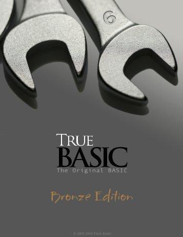 Bronze Edition Guide - True BASIC