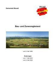 Bau- und Zonenreglement - Gemeinde Wauwil