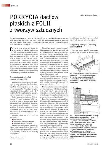 3.Pokrycia dachów płaskich z folii z tworzyw sztucznych.