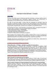 PROGRAMA FUTUROS GESTORES – 10ª EDIÇÃO ... - Instituto Ethos