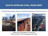 SOUTH AFRICAN COAL ROAD MAP - SANEA