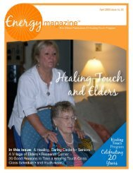 April 2009: Healing Touch and Elders - Energy Magazine