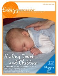 March 2009: Healing Touch and Children - Energy Magazine