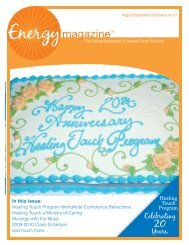 August/September 2009: Healing Touch ... - Energy Magazine