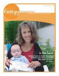January 2007: Healing Touch for Babies ... - Energy Magazine