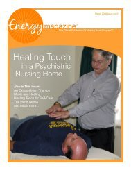 March 2008: Healing Touch in a Psychiatric ... - Energy Magazine